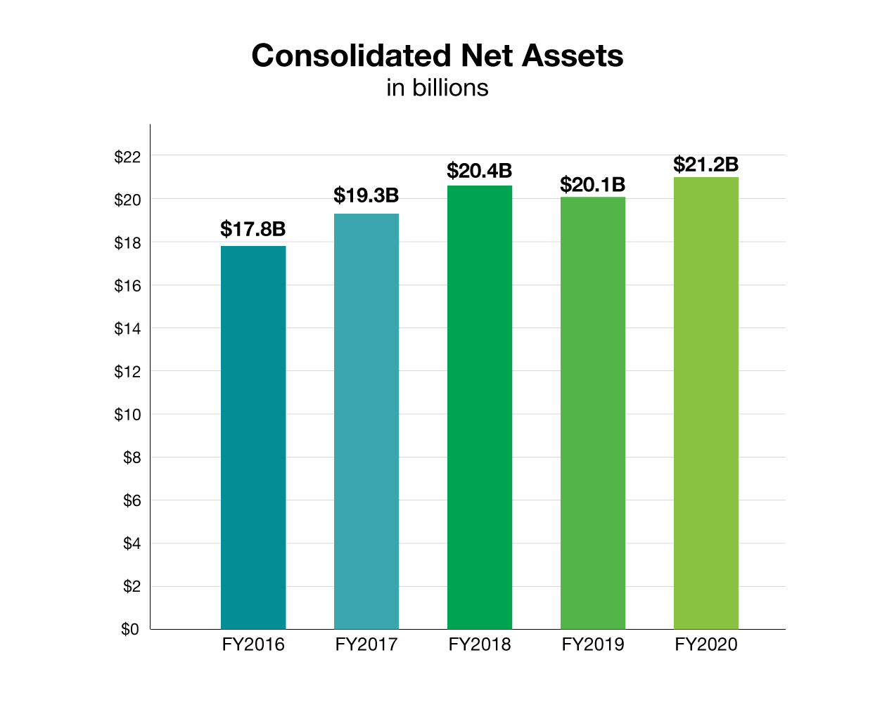 HHMI Consolidated Net Assets, 2020