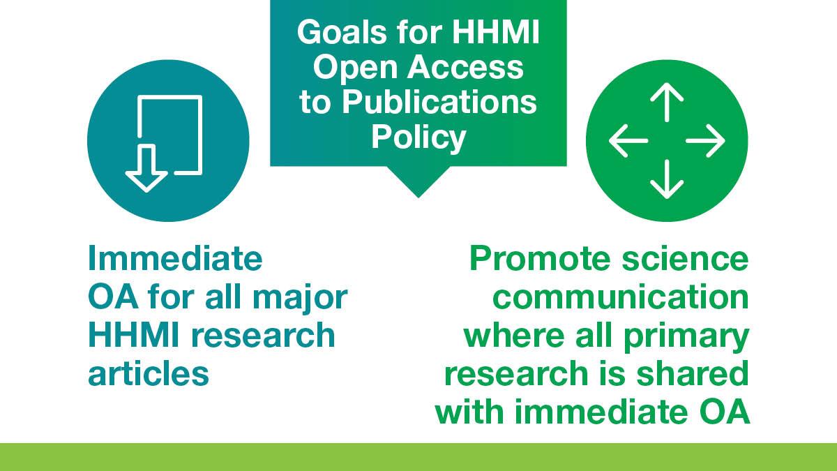 HHMI Open Access Goals
